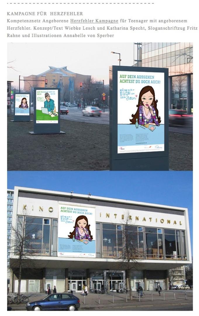 Wok Agentur, Berlin, Kompetenznetz, angeborene Herzfehler, Kampagne für Teenager mit angeborenem Herzfehler