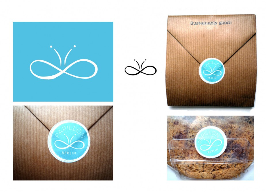 "Dr. Paula Laurel Jackson,""Papillon"" sustainably cookies, Projekt Berlin, Logo and CI"
